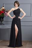 Bezzadu Klasický Přední štěrbinou Přirozeného pasu Promové šaty