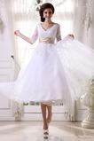 Přírodní pas Zahrada Hruška Čaj délka Půl rukávy Svatební šaty