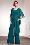 S Bolero Lopatka Přikrýt Oblek kalhoty Přirozeného pasu Matka nevěsty šaty