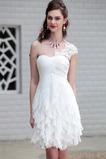 A-Čára Bílá Krajka Říše pasu Bez rukávů Střední záda Promové šaty