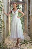 V-krk Krajka A-Čára Bez rukávů Léto S hlubokým výstřihem Svatební šaty