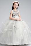 S diakritikou růžice Drahokam Organza Květina Květ dívka šaty