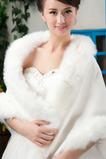 Zimní svatební šál bez rukávů