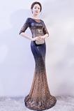 Flitry Výkon Bateau Přírodní pas Moře dívka Zdobený živůtek Promové šaty