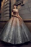 Flitry Střední Přírodní pas Rovné rameno Víčko Formální Promové šaty