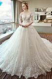 T-shirt rukáv Elegantní Dlouhý A-Čára Polovina rukáv Svatební šaty