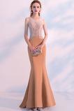 Dlouhý Přírodní pas Lištování Formální Drobounký Večerní šaty