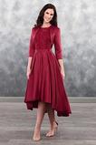 A-Čára Střední Tři čtvrtiny rukávy Elegantní Vysoká nízká Matky šaty