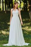S hlubokým výstřihem Zahrada Šifón houpačka Tlačítka Svatební šaty