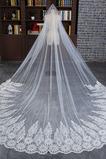 Svatební závoj Lace Formální církev lemovaná studenou krajkou
