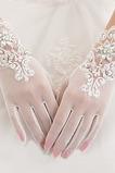 Svatební rukavice Bílá Krátké letní perla Celý prst Vhodné