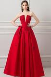 Hluboký výstřih do V Délka podlahy Elegantní Zašněrovat boty Promové šaty