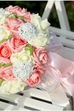 Simulace 30 příze zařízení s nevěsty kytice růží po celé obloze hvězda