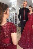 Plus Velikost Elegantní Drahokam Jaro Zametání vlečka Promové šaty