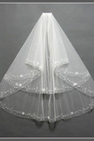 Svatební závoj Multi Layer Edge perla dekorace Chic Spring