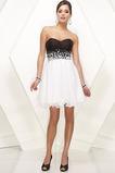 Krátký Skládaný živůtek Srdíčko Bílá Bez rukávů Promové šaty