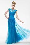 Dlouho Přirozeného pasu Krajka Elegantní Střední Společenské šaty