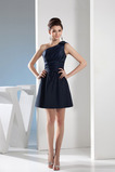 Jednoduchý Zip nahoru A-Čára Přirozeného pasu Krátký Promové šaty