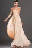 Tenká Skládaný živůtek Šifón Elegantní Bez rukávů Promové šaty