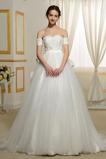 S hlubokým výstřihem Přírodní pas A-Čára Dlouhý Svatební šaty