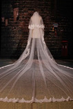 Svatební závoj slavnostní zimní stezka dlouhá krajka látka
