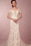 Mořská panna Bez pasu Úplně zpátky Zahrada Portrétu límeček Svatební šaty