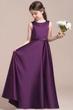 Formální Přikrýt Bez rukávů Kotníky Satén Střední Květinové šaty