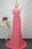 Oslava Spandex Bez rukávů A-Čára Vysoký krk Léto Promové šaty