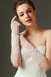 Ivory svatební rukavice Čipka látky Lace Shade Padající sexy