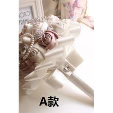 Nová jednoduchá atmosférická diamantová perleťová nevěsta kytice high-end ruka