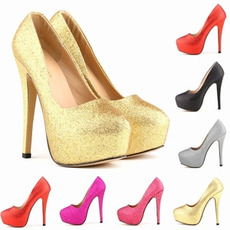 Šumivé svatební módní boty na podpatku