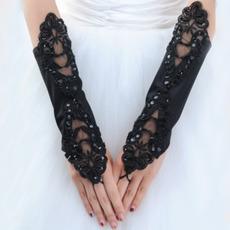 Svatební rukavice Atraktivní jarní Pearl Taffeta Outdoor