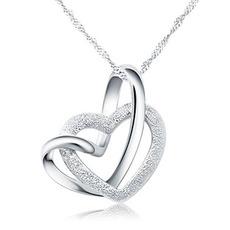 Jednoduché stříbrné ženy s dvojitým klíčovým řetězcem & přívěskem