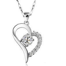 Srdce ve tvaru horkého prodeje pokovování Ženy Bright Shine Pendant