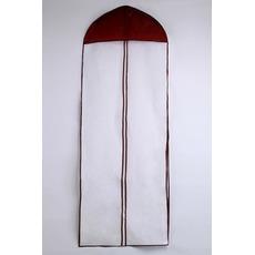 155 cm dlouhý prachový sáček na svatební šaty s prachovým obalem na jedné straně