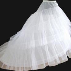 Svatební petticoat Elastický pas Šířka Dva rámy Flouncing Svatební šaty