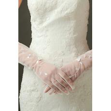 Sexy průsvitné sexy svatební rukavice Long Shade Celý prst