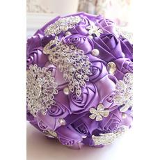 Purple diamanty perla svatební svatební fotografie rozložení výzdoba kreativní hospodářství květiny