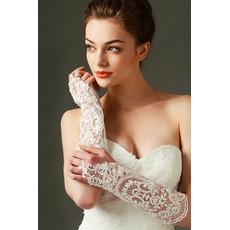Slonovinové svatební rukavice Krajka Fabric Decoration Translucent Fall