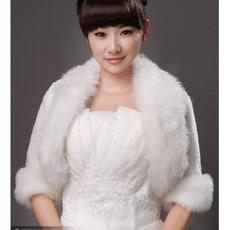 Svatební šátek 1/2 Sleeve podzimní Elegantní peří Tinkerbell