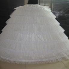 Svatební svatební šaty Svatební šaty Dlouhé šest ráfků Vintage Elastický pas