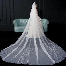 Nevěsta závoj závoj jednoduchý závoj svatební fotografie dlouhý závoj svatební doplňky