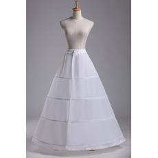 Svatební petticoat Standard Čtyři ráfky Nastavitelná módní polyester taffeta