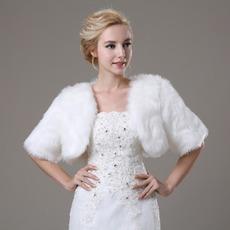 Svatební šátek Glamour s krátkým rukávem Shore Sleeve Loose Fur