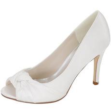 Svatební rybí hlavy boty saténové svatební boty jehlové šaty boty kvalitní banketové boty
