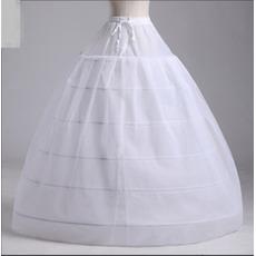 Wedding Petticoat Dva svazky silné síťové svatební šaty Dlouhé šest ráfků