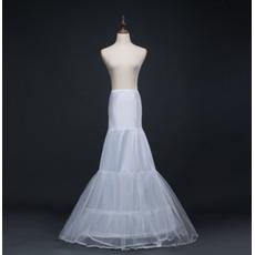Svatební kočička Dlouhá mořská víla Dvojitá příze Spandex Korzet Svatební šaty