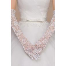 Svatební rukavice Čipka Fabric Ceremonial Krajka Celý prst