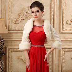 Svatební šátek s dlouhým rukávem Single Chapel Fall Fur