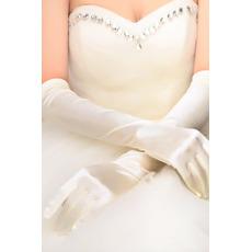 Svatební rukavice Shrnutí Taffeta Long Church Full Finger Spring